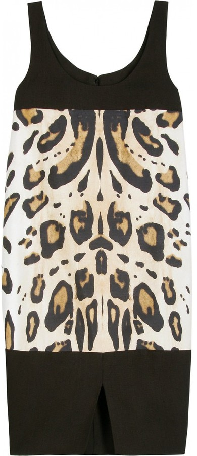 Giambattista Valli EGG SHAPED ANIMAL PRINT DRESS