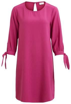 Vila Plain Short-Sleeved Knee-Length Shift Dress