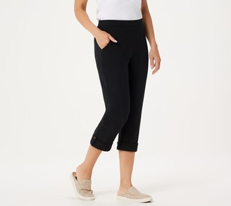 Denim & Co. Active French Terry Cuffed Crop Pants