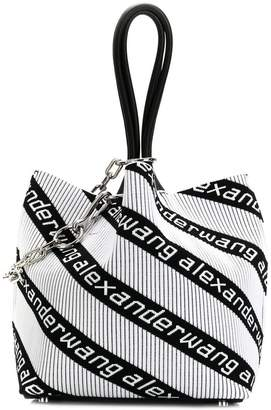 Alexander Wang logo stripe tote bag