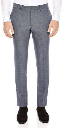 Sandro Notch Pinpoint Slim Fit Trousers $345 thestylecure.com
