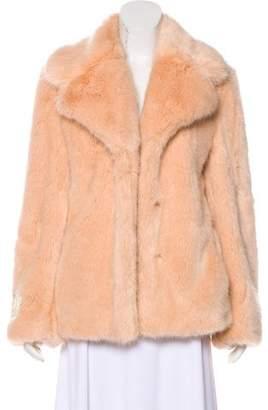 Stella McCartney Faux Fur Notch-Lapel Jacket