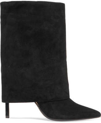 Balmain Suede Ankle Boots - Black