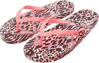 1f222f261f582 Accessorize Leopard Coral Thong EVA Flip Flops