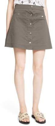 Kenzo Stretch Cotton Twill Skirt