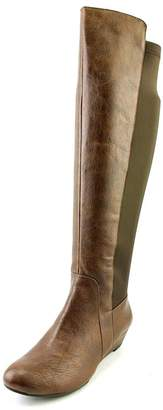 Jessica Simpson Joline Women's Knee High Wedge Heel Boots Brown Size 6
