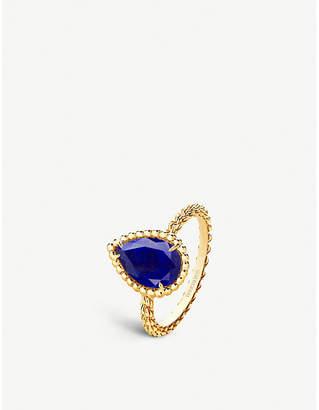 Boucheron Serpent Bohème 18ct yellow gold and lapis lazuli ring