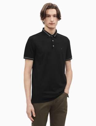 Calvin Klein slim fit liquid cotton tipped polo shirt