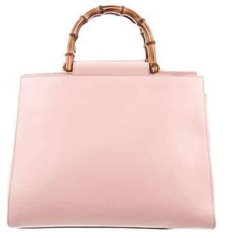 Gucci 2017 Medium Nymphaea Bamboo Top Handle Bag