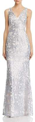 Eliza J Sequined Lace Gown