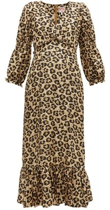 Shrimps Rosemary Leopard Print Silk Dress - Womens - Leopard