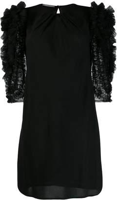 Alberta Ferretti tulle-panelled dress