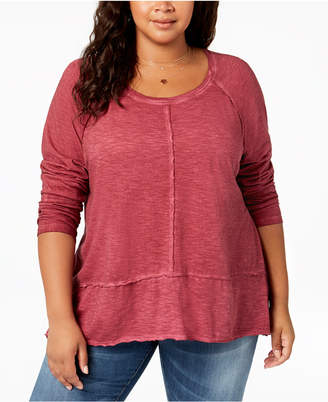 Style&Co. Style & Co Plus Size Washed High-Low Hem Top, Created for Macy's