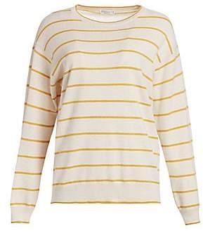 Brunello Cucinelli Women's Virgin Wool & Cashmere Stripe Sweater
