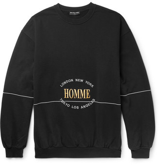Balenciaga Oversized Embroidered Loopback Cotton-Jersey Sweatshirt $595 thestylecure.com