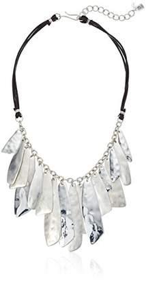 Robert Lee Morris Fade Away Silver Shakey Frontal Necklace
