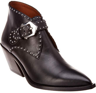 Givenchy Cowboy Studded Leather Ankle Bootie