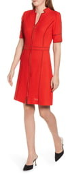 Ming Wang Textured Knit Sheath Dress