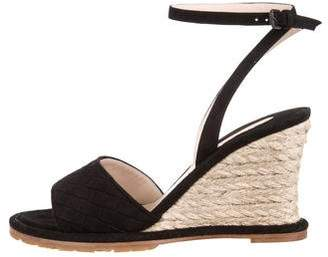 Bottega Veneta Suede Intercciato Sandals