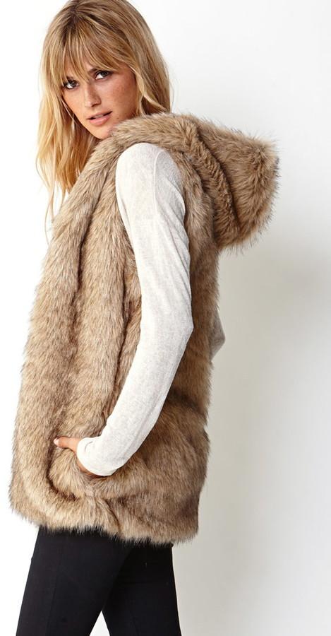 Forever 21 contemporary favorite faux fur vest