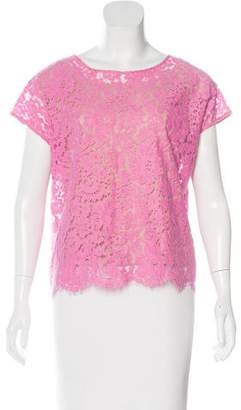Robert Rodriguez Lace Short Sleeve Top