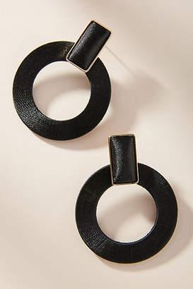 Anthropologie Maria Hooped Post Earrings