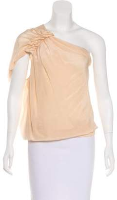 Philosophy di Alberta Ferretti Silk One-Shoulder Top w/ Tags