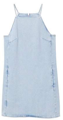 MANGO Halter neck denim dress