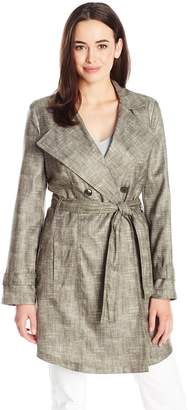 Kenneth Cole New York Women's Novelty Trench Coat