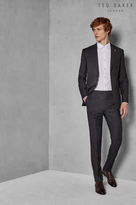 Next Mens Ted Baker Grey Ursus Sovereign Micro Design Suit Trouser