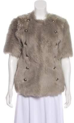 Anna Molinari Short Sleeve Shearling Jacket