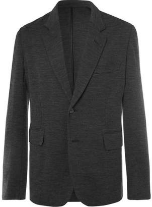 Brioni Dark-Grey Mélange Stretch-Virgin Wool Suit Jacket