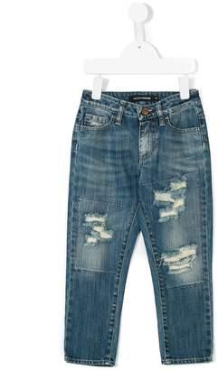 European Culture Kids distressed denim jeans