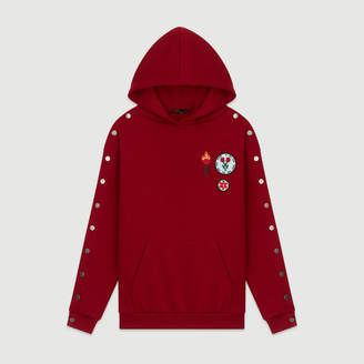 7ed1dc0976 Free Standard Shipping at Maje · Maje Hooded sweatshirt with pressed buttons