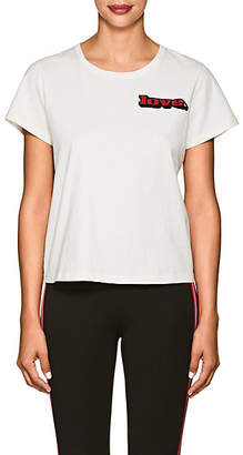 """Marc Jacobs Women's """"Love"""" Embellished Cotton T-Shirt - White"""