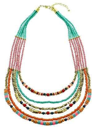 Panacea Multistrand Seed Bead Necklace