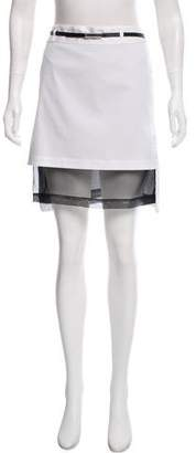 Robert Rodriguez Silk Accented Knee-Length Skirt
