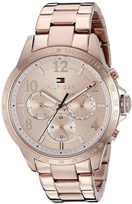 Tommy Hilfiger Women's 1781642 Dani Analog Display Japanese Quartz Rose Gold Watch $185 thestylecure.com
