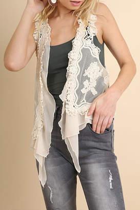 Umgee USA Fashion Crochet Vest