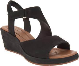 Clarks Leather Wedge Sandals - Un Plaza Sling