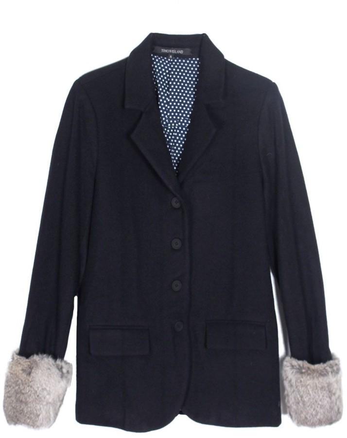 Timo Weiland Fur Cuff Blazer