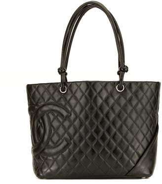 Chanel Black Quilted Calfskin Cambon Ligne Large Tote (3974009)