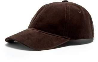 A.P.C. Alex Velvet Baseball Cap - Mens - Brown