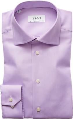 Eton Contemporary Fit Cavalry Twill Dress Shirt