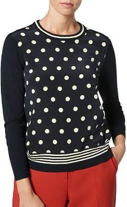 LK Bennett L.K.Bennett Cyrus Dot-Print Sweater