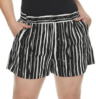 Apt. 9 Plus Size Print Challis Shorts