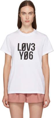 RED Valentino White Love You T-Shirt