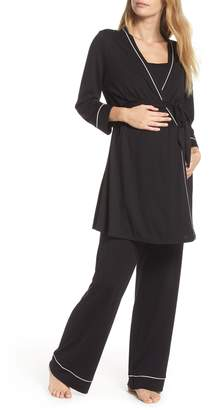 Cosabella Let Me Sleep Maternity/Nursing Pajamas & Robe Set