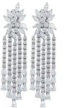 Diana M. Fine Jewelry 18K 17.00 Ct. Tw. Diamond Earrings