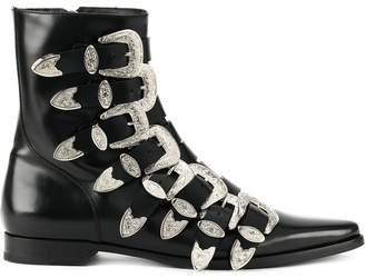 DSQUARED2 buckled fitted boots